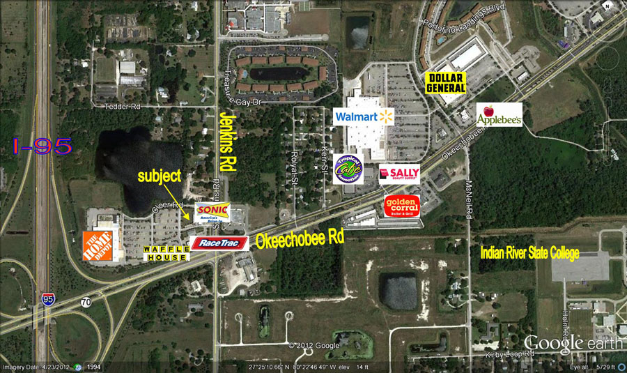 Fort Pierce Land for Lease - next to Sonic in front of Home Depot